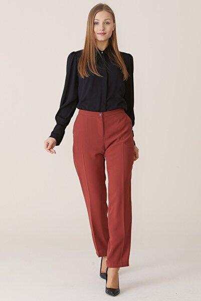 Nihan Kadın Kiremit  Dar Paça Pantolon X5039