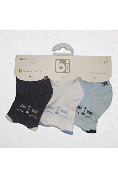 Bibaby - 3'lü Çorap Seti - Kediler - Koyu Gri