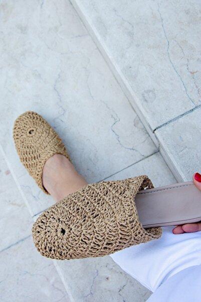 Fox Shoes Vizon Kadın Terlik H735017617