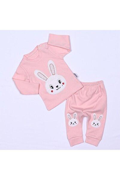 Bebe Tavşan Nakışlı Pudra Kız K Ikili Takım
