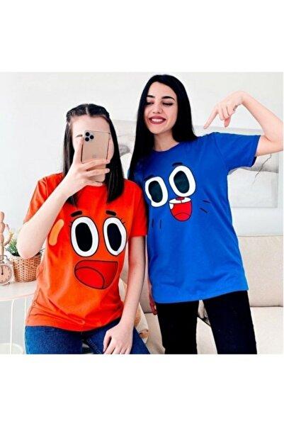 one look 2 Adet Gumball Ve Darwin Baskılı Tshirt