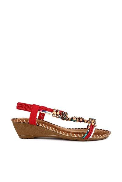Guja Kırmızı Kadın Sandalet 20Y151-1