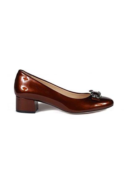 Sofia Baldi Kadın Sean Karamel Rugan Taşlı  Topuklu Ayakkabı