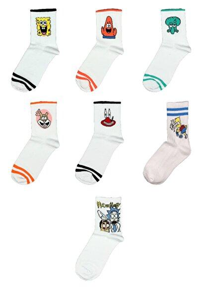 CARNAVAL SOCKS Süngerbob Desenli Renkli Tasarım Çorap Seti