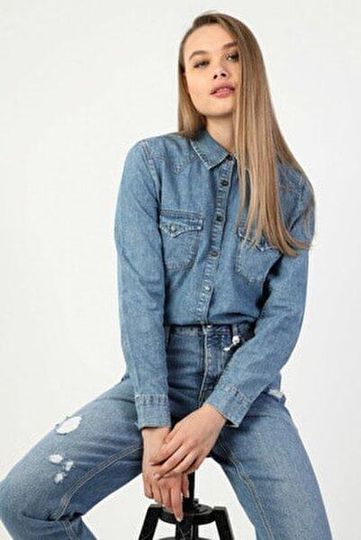 Denım Kadın Gömlek U.kol CL1049713