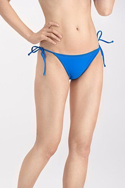 Azur Mavi Ipli Basic Bikini Altı