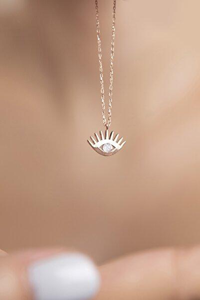 Göz Model  925 Ayar Gümüş Kolye