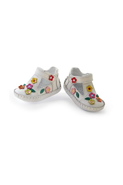 KAPTAN JUNIOR İlkadım Hakiki Deri Kız Bebek Çocuk Ortopedik Ayakkabı Patik