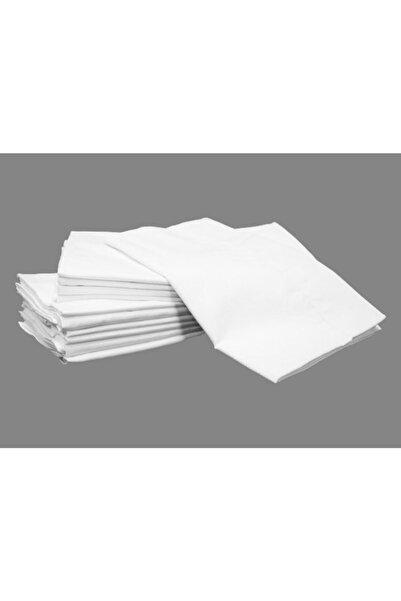 Evren 10 Adet Fermuarlı Beyaz Renk Yastık Kılıfı 50x70 cm