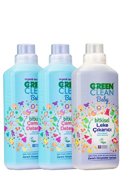 Green Clean Baby Çamaşır Deterjanı 1 Lt. + Çamaşır Deterjanı 1 Lt + Leke Çıkarıcı 1 Lt. 3' lü Set