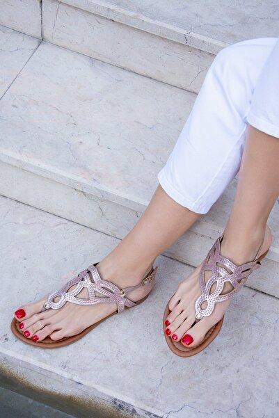 Fox Shoes Altın Kadın Sandalet H713011514