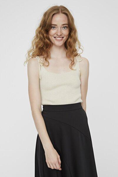 Vero Moda Kadın Ekru Omuzları Bağlamalı Askılı Triko Bluz 10225948 VMJEYLARIB