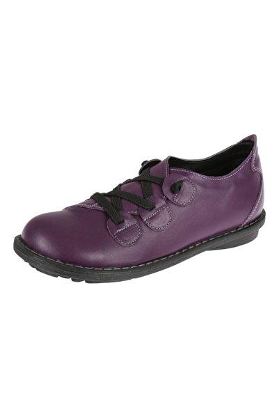 SHALİN Hakiki Deri Mor Kadın Ayakkabı