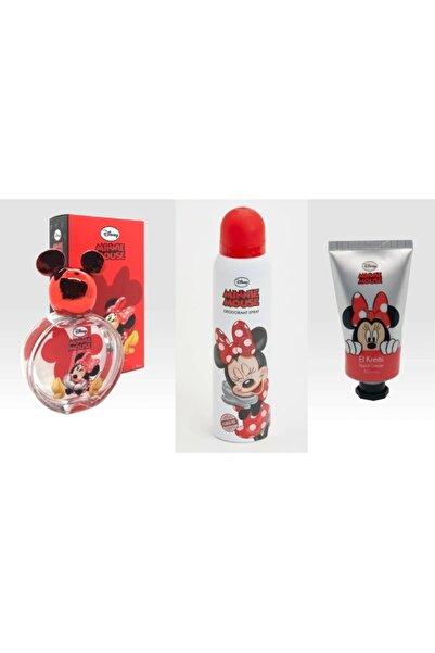 DISNEY Minnie Mouse Parfüm 50 ml Edt + Deodorant + El Kremi