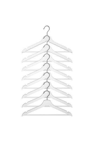 IKEA 8'li Bumerang Giysi Askısı (beyaz)