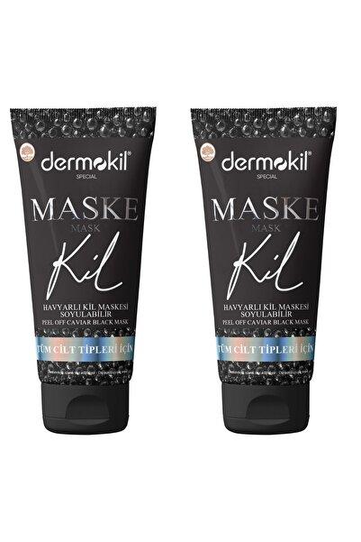 Dermokil Havyarlı Siyah Maske 2'li Set 2x75ml