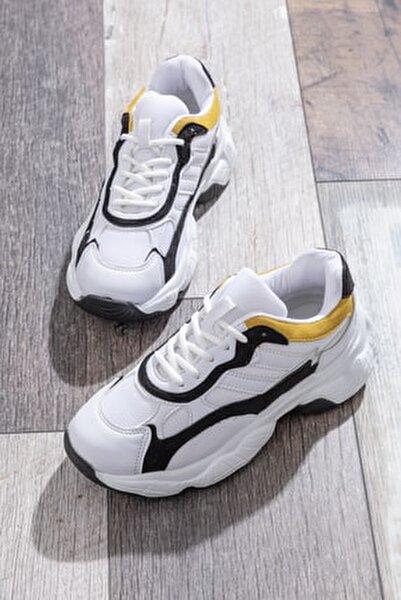 Kadın Spor Ayakkabı Beyaz Siyah Tb246