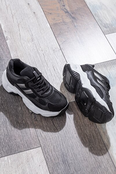 Tonny Black Kadın Spor Ayakkabı Siyah Beyaz Tb246