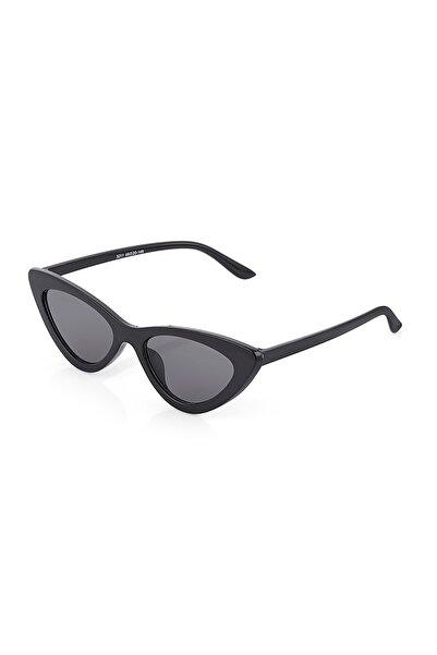 Twelve Siyah Cat Kemik Unisex Güneş Gözlüğü