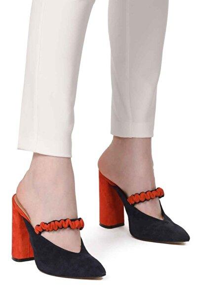 Mizalle Mızalle Iki Renkli Ayakkabı (lacivert - Nar Çiçeği)