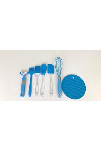Mavi Silikon 7'li Mutfak Seti