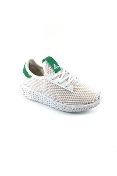 Muya Unisex Çocuk Beyaz Yeşil Spor Ayakkabı