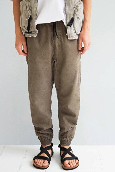 Bershka Erkek Haki Keten Jogging Fit Pantolon 00350777