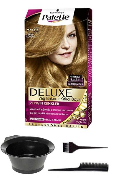 SCHWARZKOPF HAIR MASCARA 2'li Palette Deluxe 8-65 Kahve Köpüğü Saç Boyası Ve Saç Boyama Seti