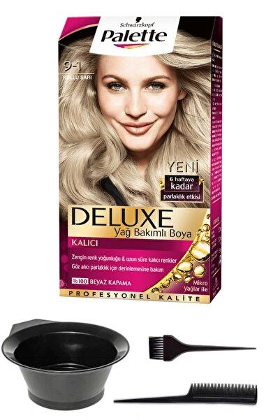 SCHWARZKOPF HAIR MASCARA 2'li Palette Deluxe 9-1 Küllü Sarı Saç Boyası Ve Saç Boyama Seti