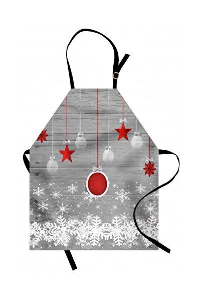 Orange Venue Mevsimler Mutfak Önlüğü Yıldızlar ve Kar Taneleri Rengirenk
