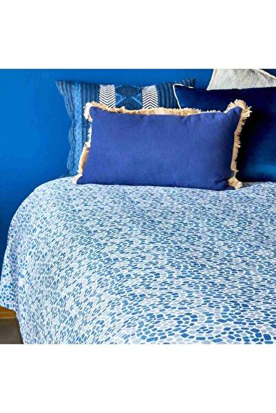 Bella Maison %100 Pamuk Perla Mavi Pike Çift Kişilik (220x230 Cm)