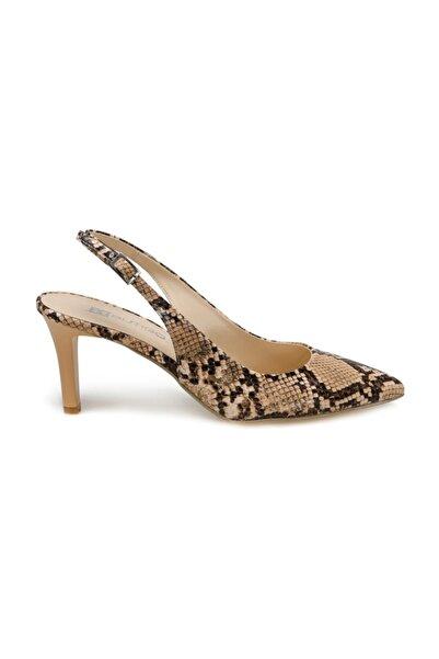 Miss F Ds20046 Bej Kadın Topuklu Ayakkabı