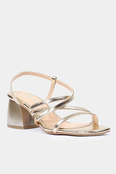 Gold Kadın Topuklu Sandalet