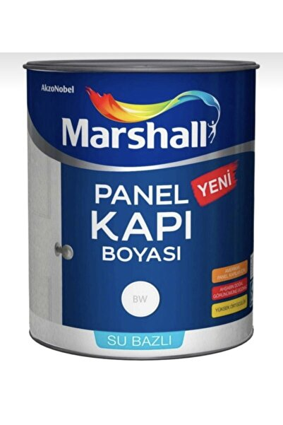 Marshall Su Bazlı Kokusuz Panel Kapı Boyası 2.5 Lt Meteor Rengi