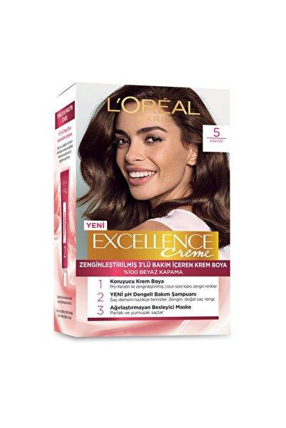 Saç Boyası - Excellence Creme 5 Kahve 3600523736645