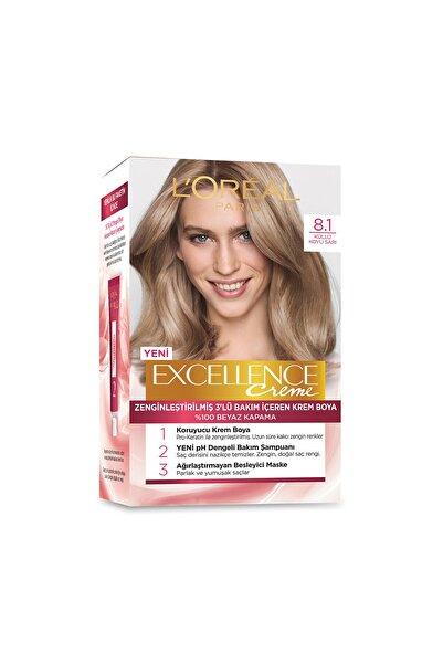 Saç Boyası - Excellence Creme 8.1 Küllü Koyu Sarı 8690595357300
