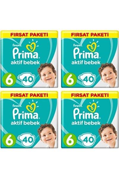 Prima Aktif Bebek 6 Numara 13-18kg 40 adet X 4 Paket