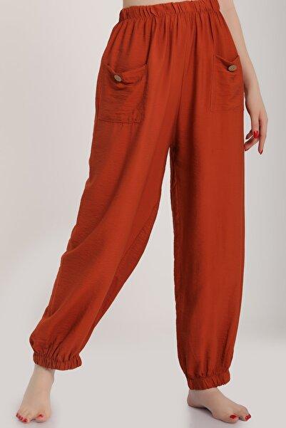 MD trend Kadın Kiremit Bel Lastikli Salaş Pantolon Mdt6144