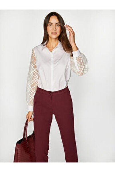 Kadın Beyaz Gömlek 39320 U39320