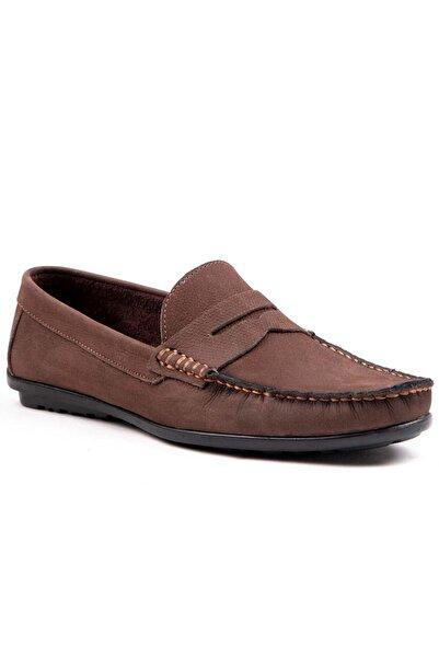 MPP Hakiki Deri Loafer Erkek Ayakkabı Atk7100 Kahverengi