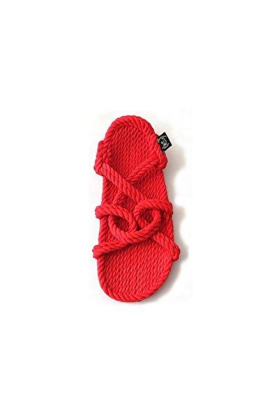Nomadic State Of Mind Kadın Kırmızı Hasır Ip Sandalet- Mountain Momma