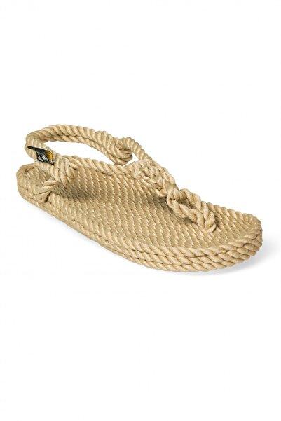 Nomadic State Of Mind Kadın Camel Hasır Ip Sandalet- Athena