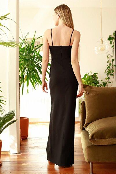 Siyah Yaka Detaylı Abiye & Mezuniyet Elbisesi TPRSS20AE0295