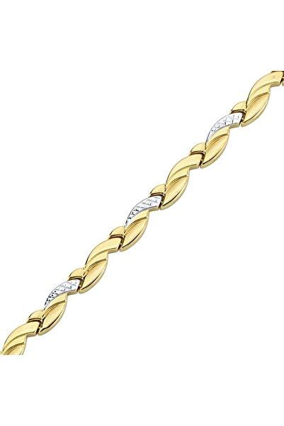 Altın Sepeti Altın Klasik Örme Bileklik