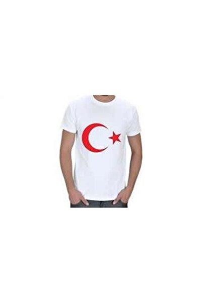 Modakids Beyaz Bayrak Baskılı S-m-l-xl Tişört