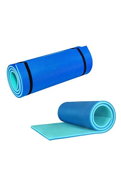 EgeOnline Pilates Ve Yoga Matı 180x60 cm 10 mm Çift Taraflı Turkuaz – Mavi