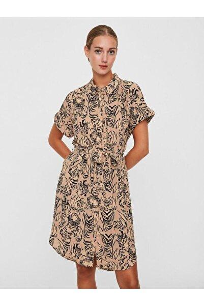 Vero Moda Kısa Kollu Çiçek Desenli Gömlek Elbise 10228864