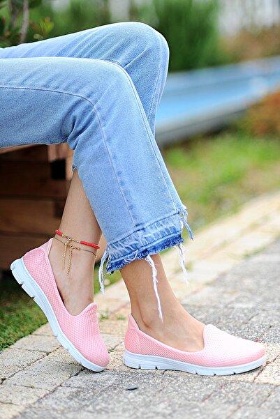 Pembe Potin Kadın Pudra Ayakkabı