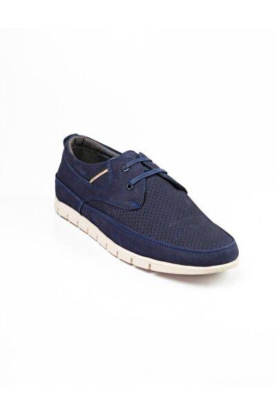 Modesa Erkek Bağcıklı Nubuk Deri Günlük Ayakkabı Lacivert 252