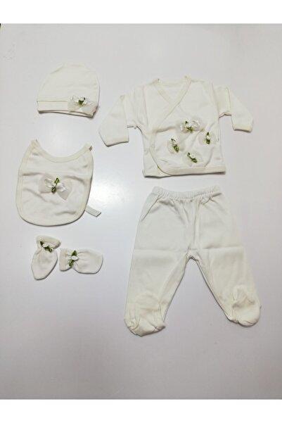 Donino Baby 5'li Kız Bebek Beyaz Yeşil Hastane Çıkışları